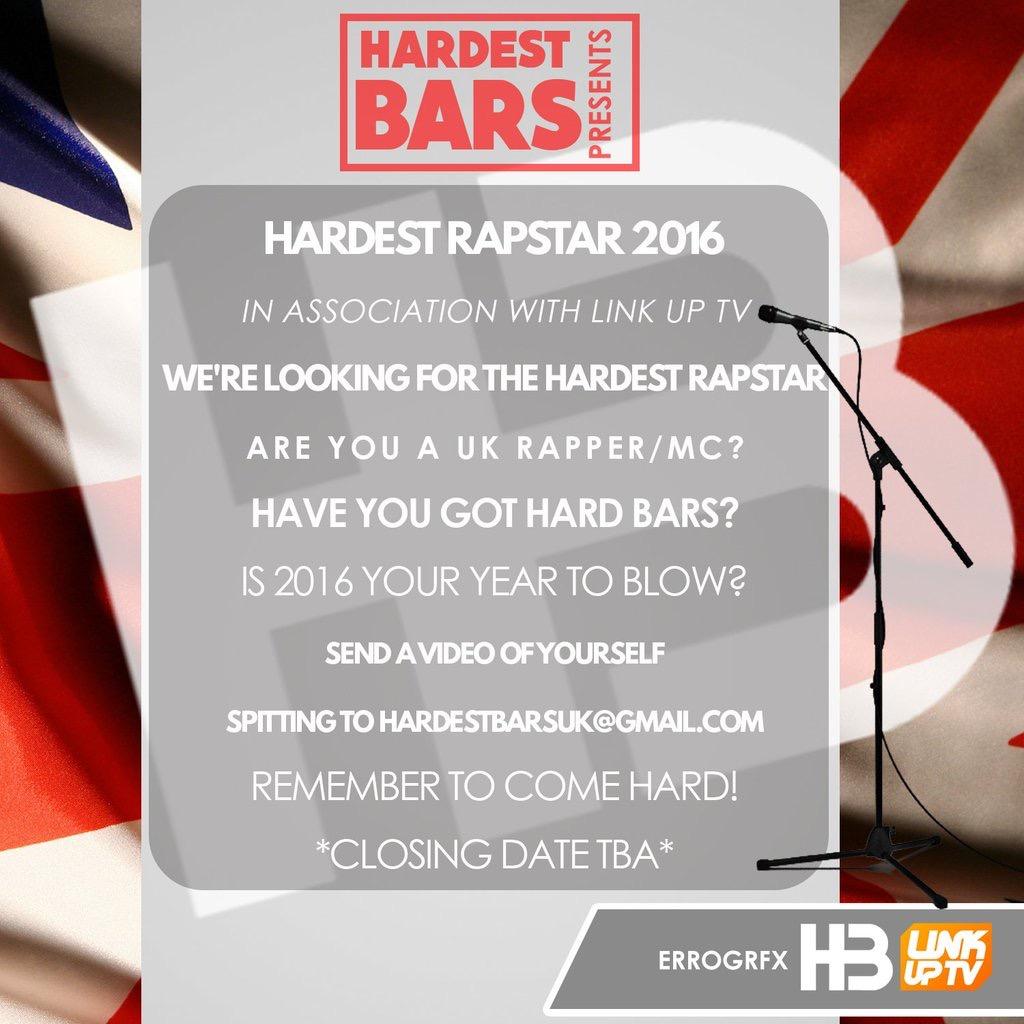 hardest rapstar flyer